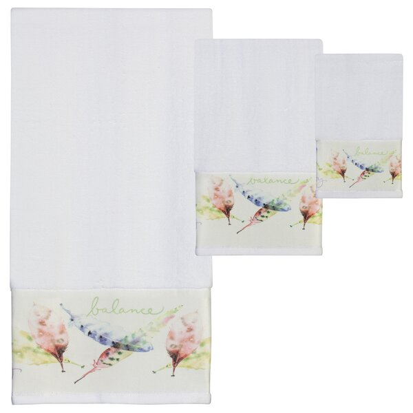 Cheverny Print 3 Piece 100% Cotton Towel Set by August Grove
